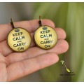 "Серьги ""Keep Calm and carry on"". Sale"